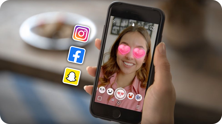 Instagram, Facebook or Snapchat – Which AR Filter would engage you more?
